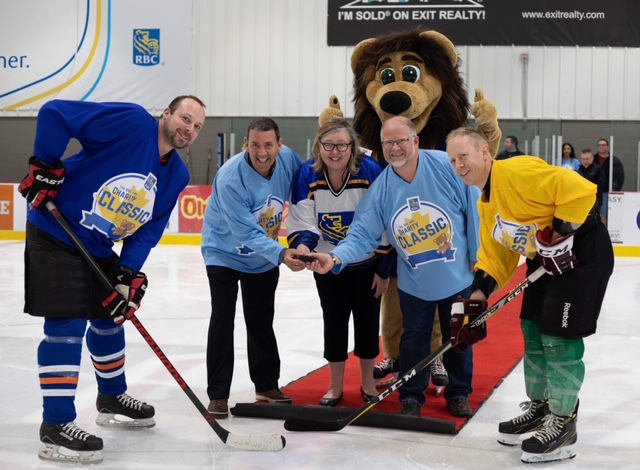 Puck drop at the RBC IWK Charity Classic