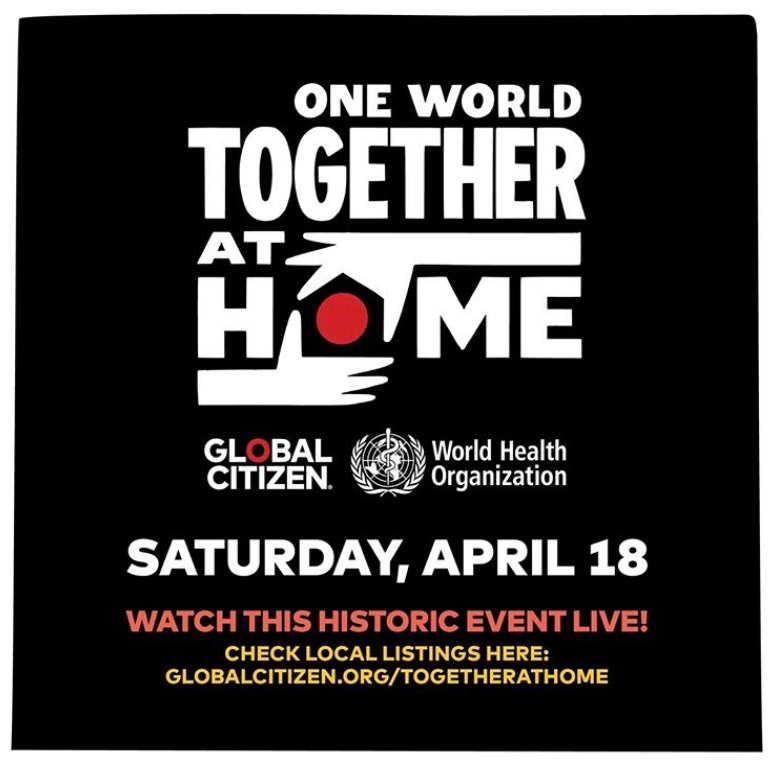 One World: Together at Home virtual concert poster