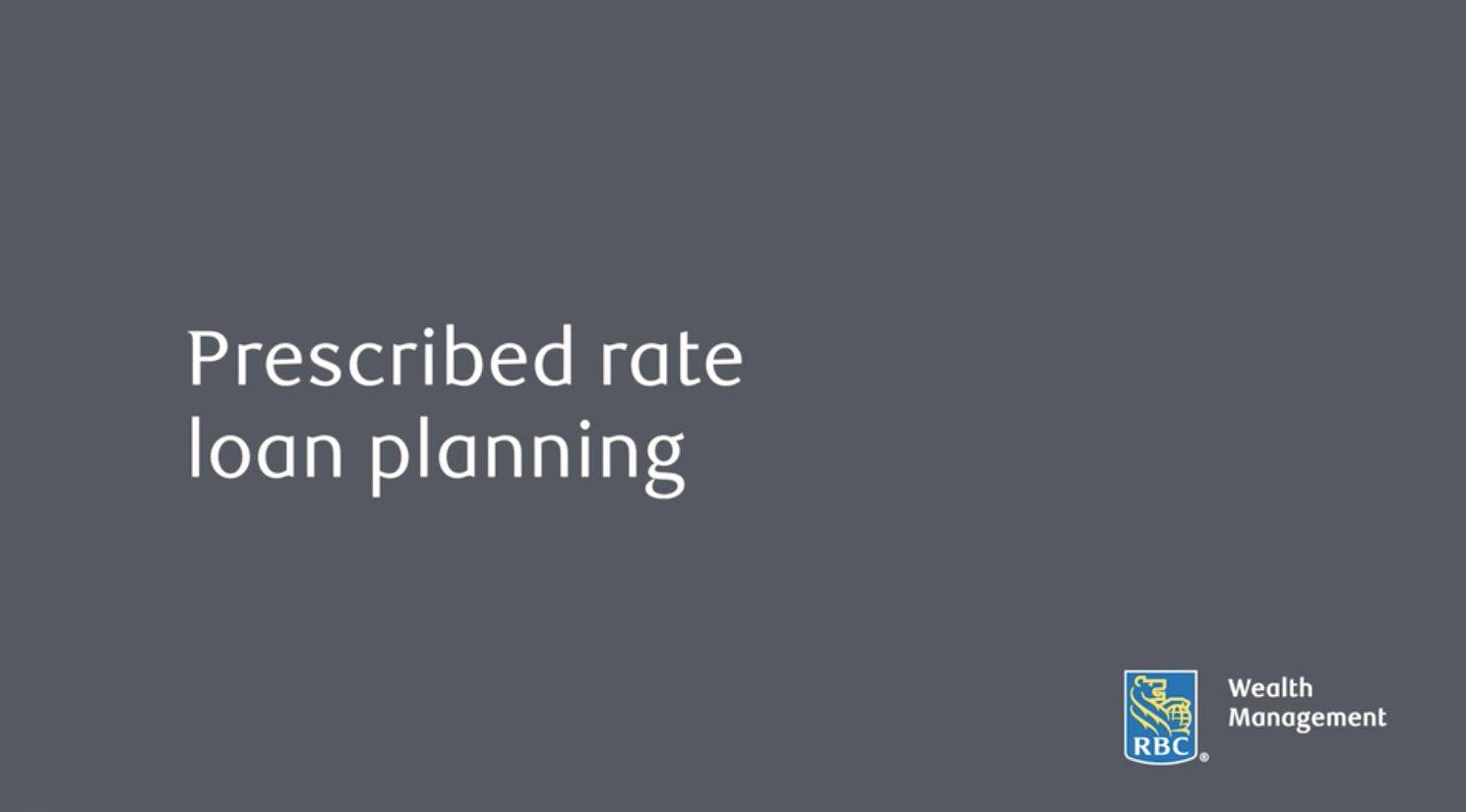 Prescribed rate loan planning