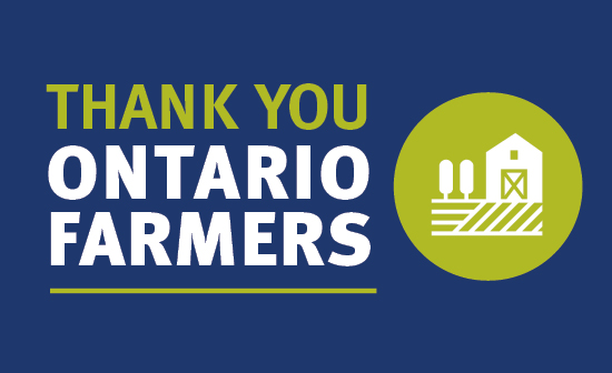 Thank you ontario farmers