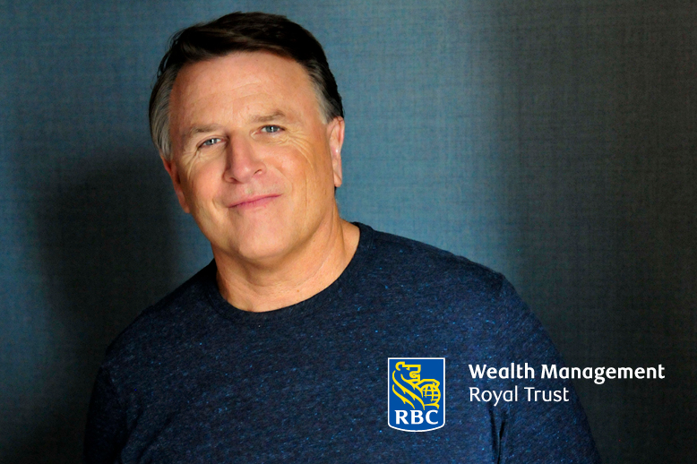 David Chilton wearing blue sweater royal bank logo
