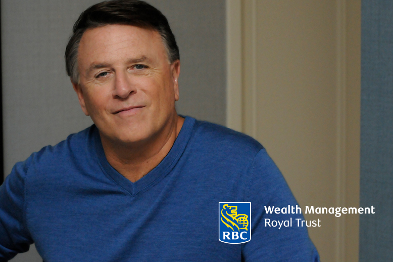 David Chilton wearing blue sweater RBC royal trust logo