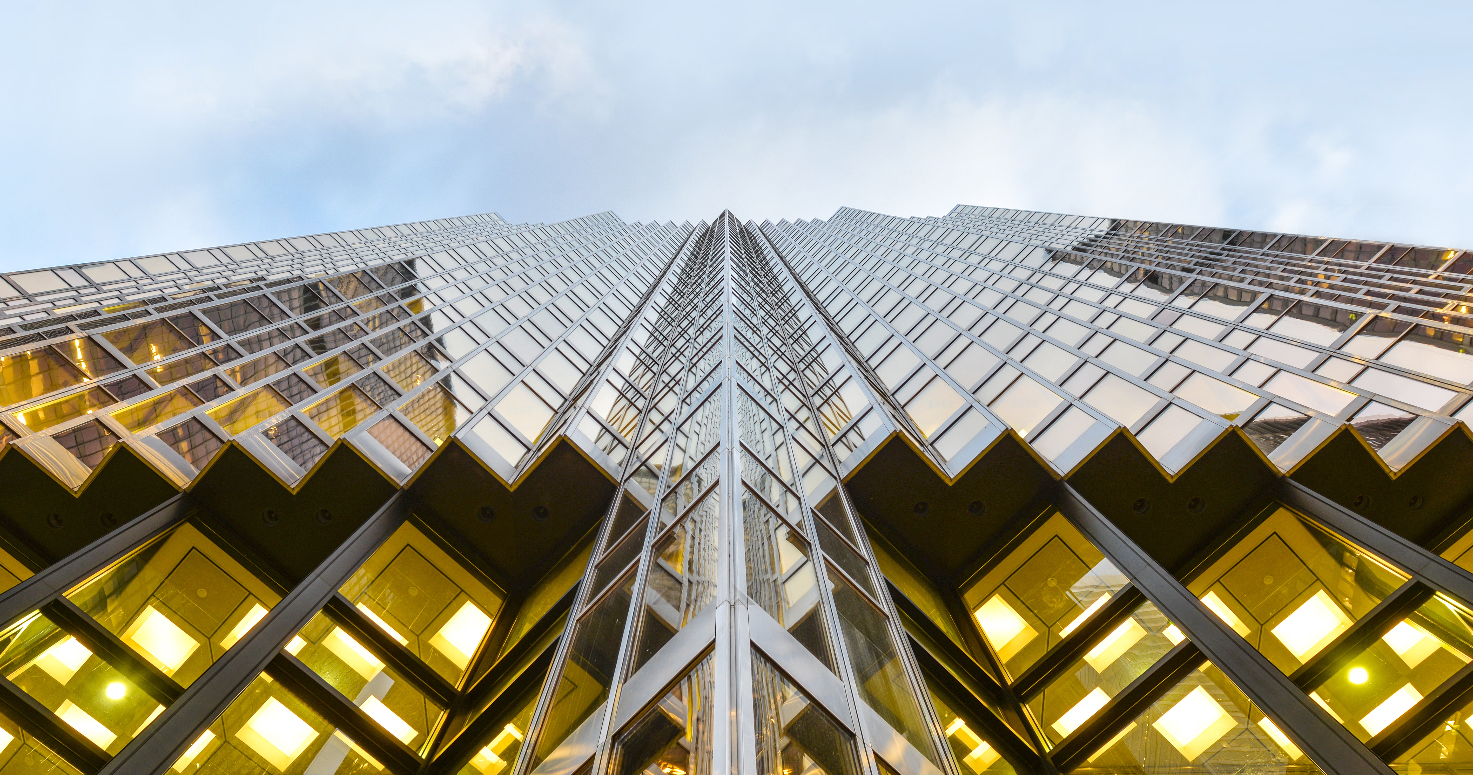 An upward view of RBC Tower