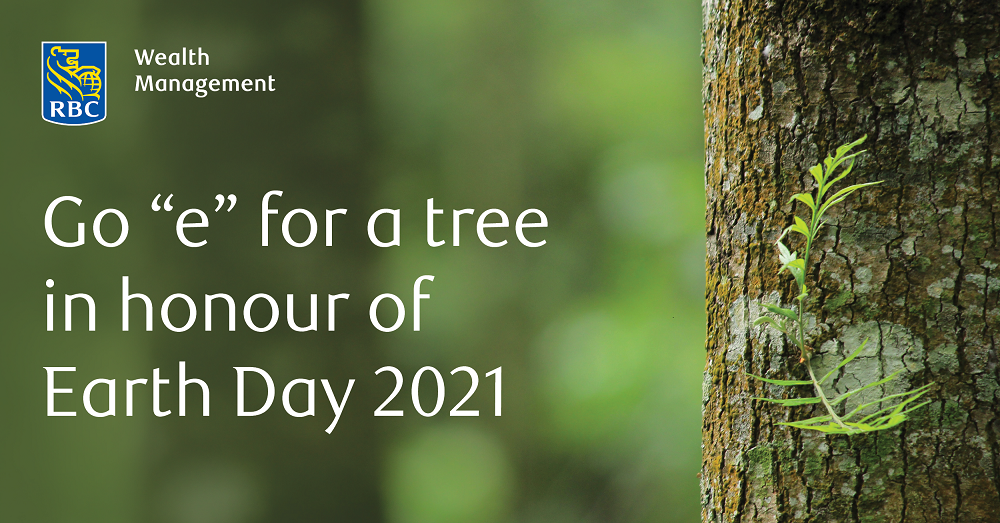 "Go ""e"" for a tree in honour of Earth Day 2021"