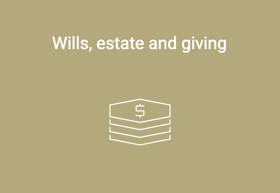 wills estate giving